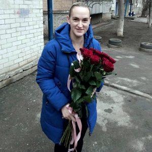 Букет 11 метровых красных роз