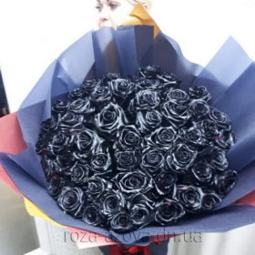 101 черная роза в мариуполе фото