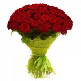 101 красная роза букет