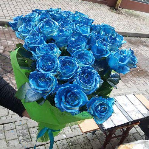 33 синие розы фото