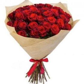 букет 35 красных роз