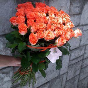 51 оранжевая роза Вау в Мариуполе фото