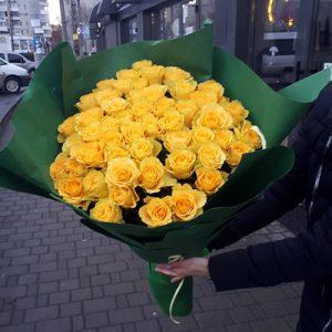 букет 51 желтая роза в Мариуполе фото