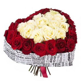 розы в виде сердца фото