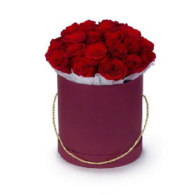 шляпная коробка 21 роза фото