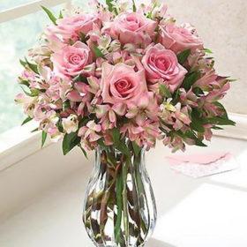 букет чары розы и тюльпаны роза альстромерии фото
