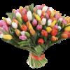 букет 99 тюльпанов