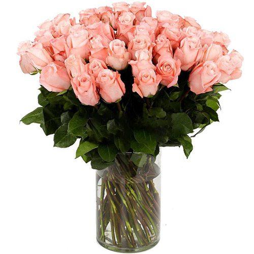 Фото товара Роза импортная розовая (поштучно)