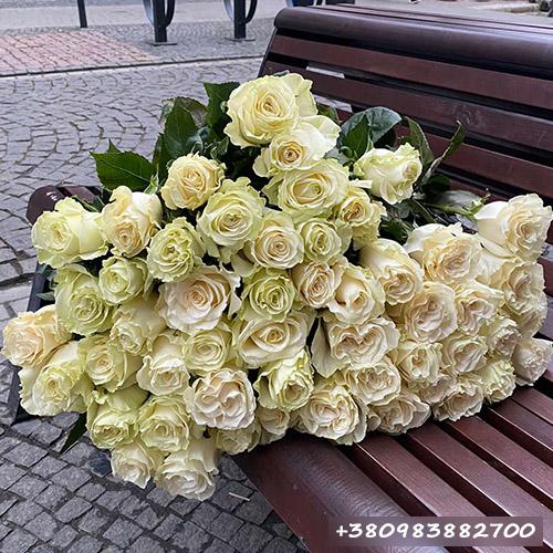 букет белых роз фото