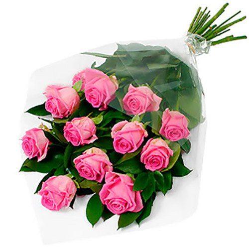"""Фото товара 11 роз """"Аква"""""""