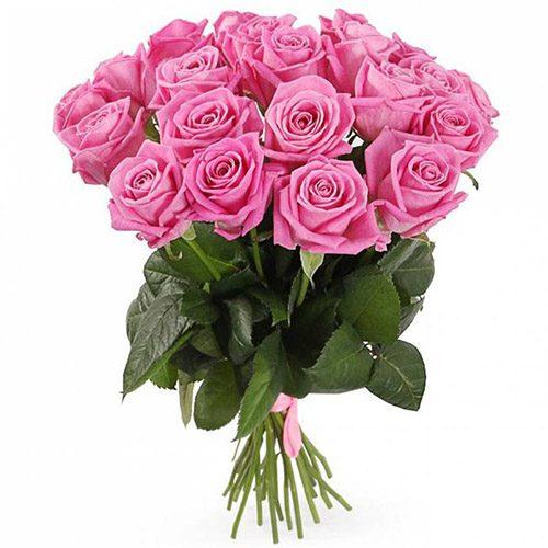 """Фото товара 21 роза """"Аква"""""""