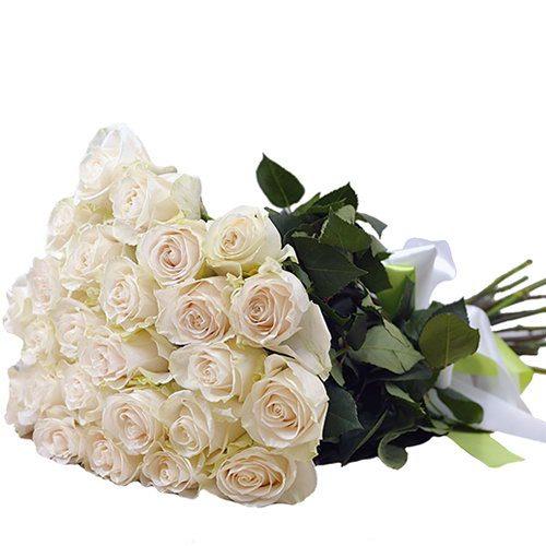 Фото товара 25 белых роз