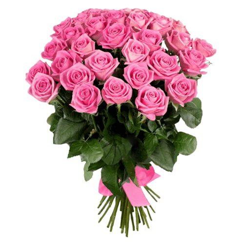 """Фото товара 25 роз """"Аква"""""""
