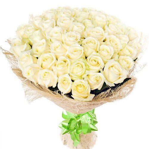 Фото товара 51 белая роза