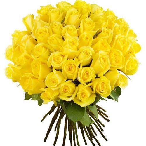 Фото товара 51 желтая роза