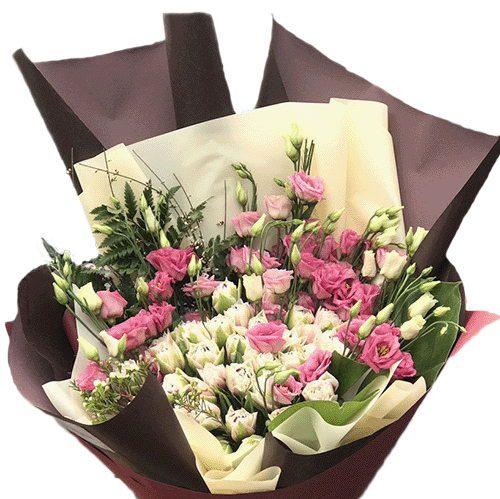 Фото товара Кустовая роза с эустомой