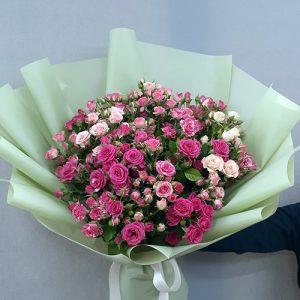 33 кустовые розы в Мариуполе фото