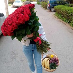 101 высокая роза в Мариуполе