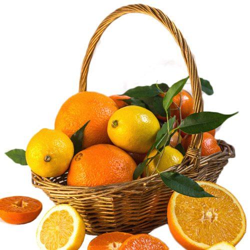 Корзина витаминов цитрусовые фото товара