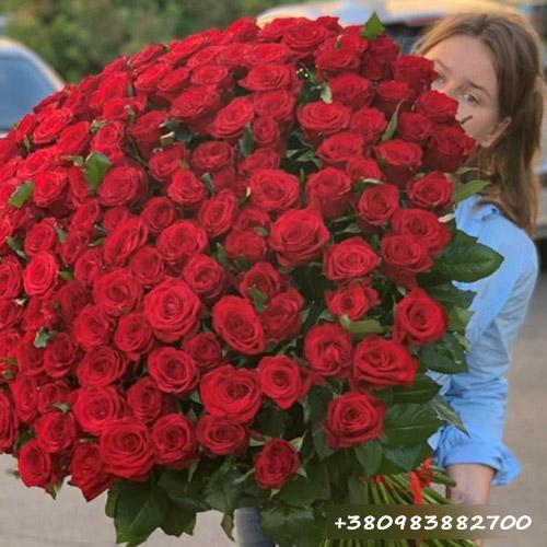 фото букет роз от магазина цветов