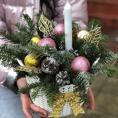Фото товара Новогодняя корзина
