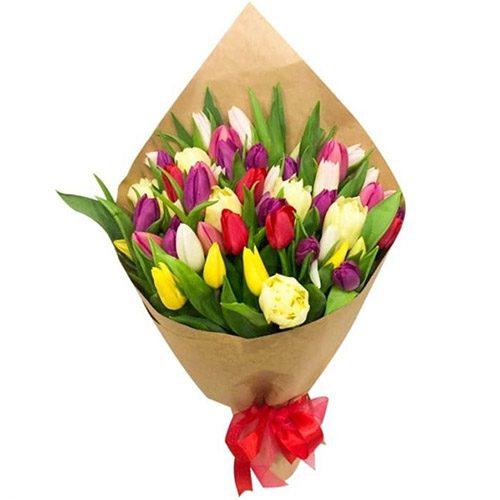 """Фото товара 45 тюльпанов """"Драже"""""""