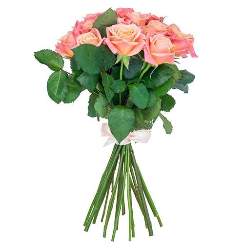 """Букет """"Мисс Пигги"""" 11 коралловых роз"""