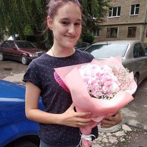 букет Розовая гортензия в Мариуполе фото