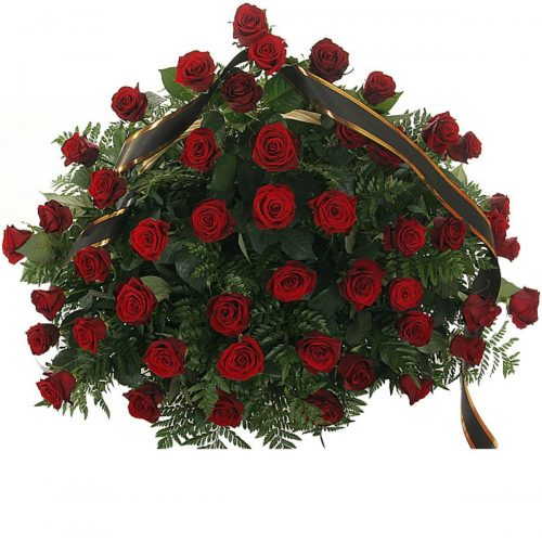 Фото товара 70 красных роз в корзине