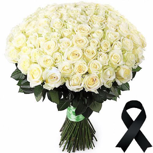 Фото товара 100 белых роз